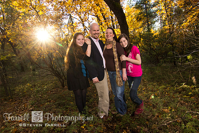 Farrell Photography family portrait fall colors