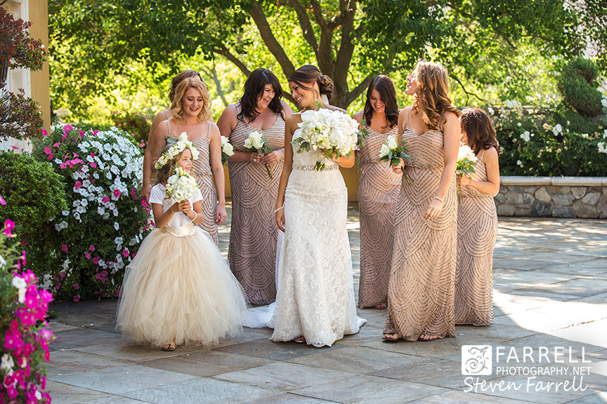 Arden-Hills-Wedding-by-Farrell-Photography-Sacramento-Wedding-Photographers-brides-maids-walking-2015-IMG_1181