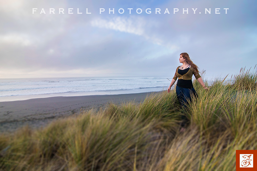 Senior Portrait Shoot In The Redwoods And On The Ocean