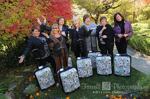 farrell photography girlfriends matching suitcases sutter creek Foxes Inn