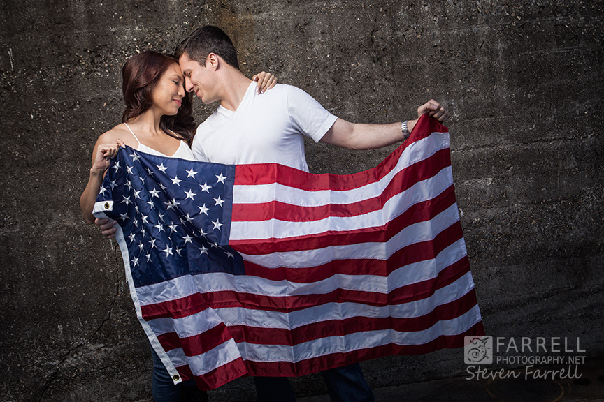Air-Force-Engagement-American-Falg-Photo-by-Steven-Farrell-of-Farrell-Photography
