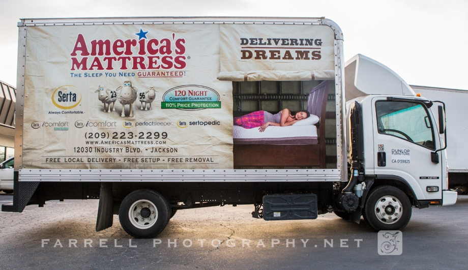 Commercial Photo Shoot And Graphics For Americas Mattress